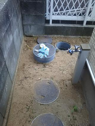 排水桝のかさ上げ工事