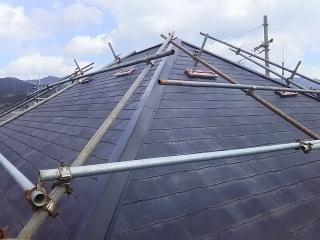 屋根外壁塗装工事の現場